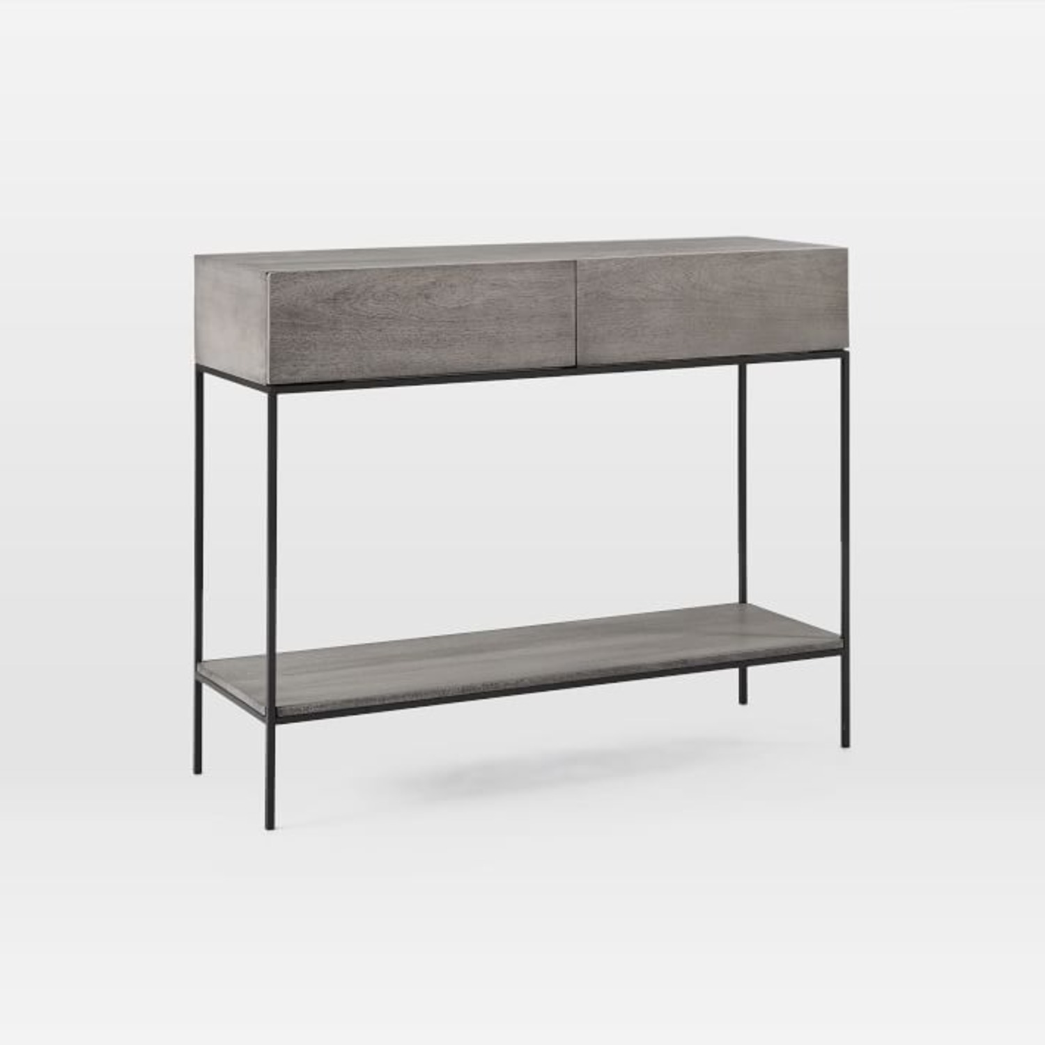 West Elm Industrial Storage Console, Gray - image-1