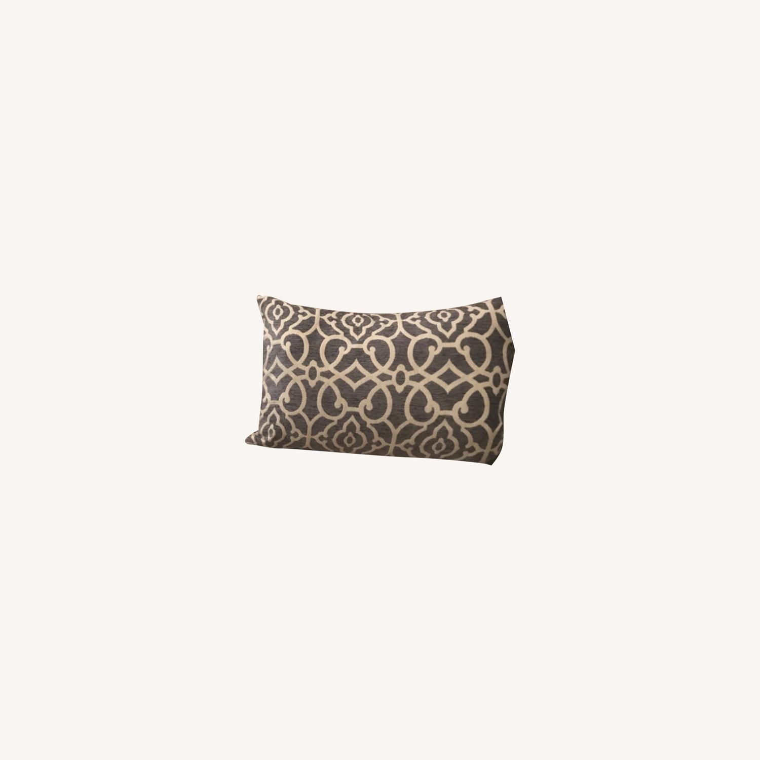 Gray & White Accent Pillows - set of 2 - image-0