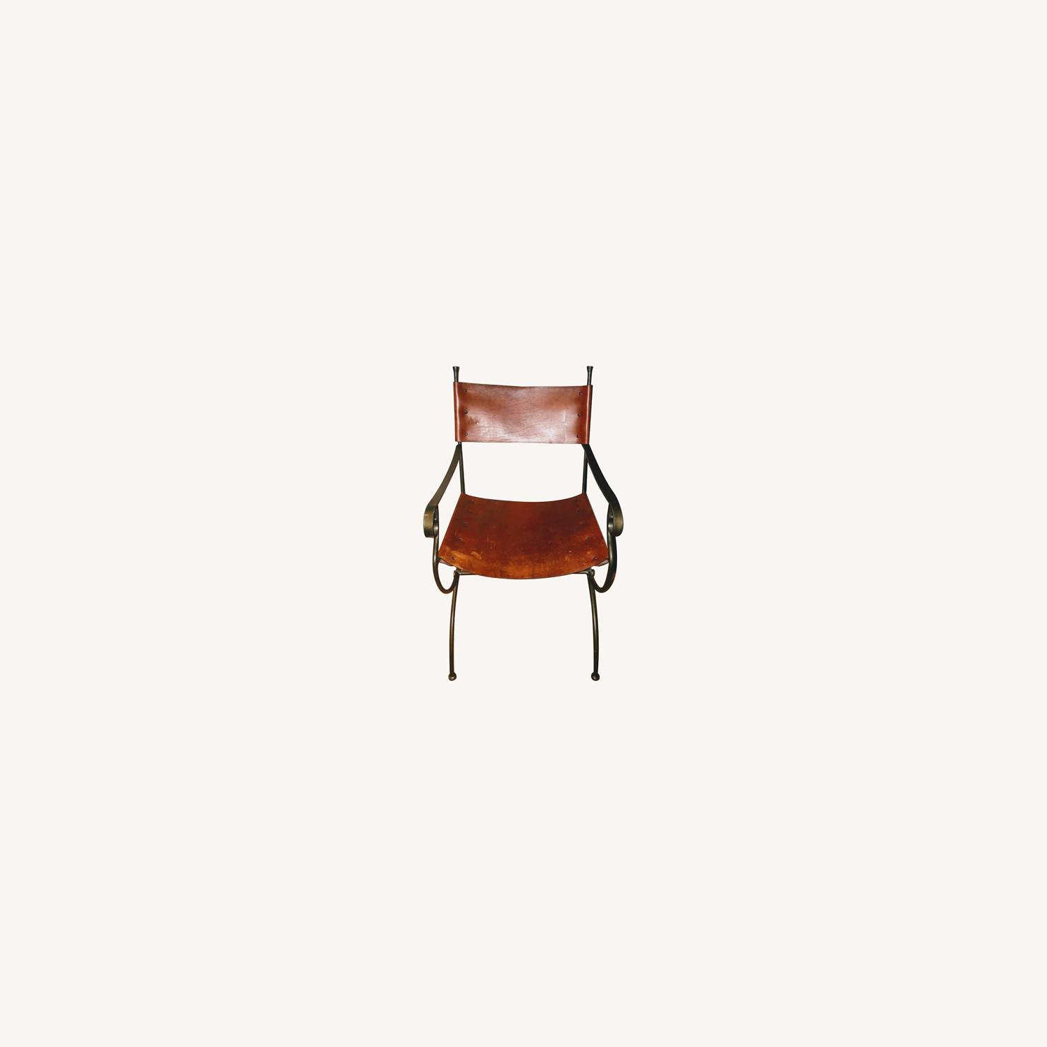 Leather & Metal Chair - image-0