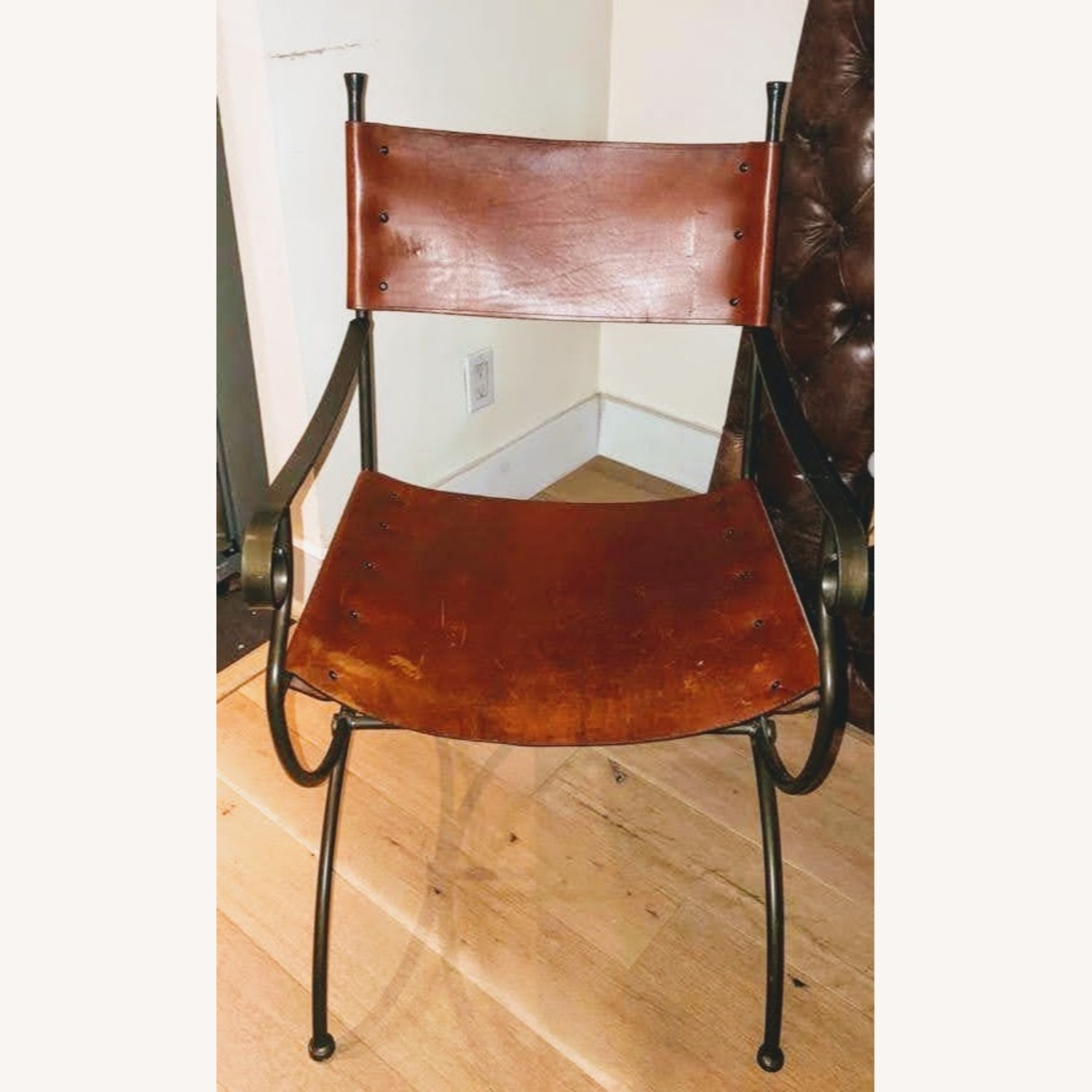 Leather & Metal Chair - image-1