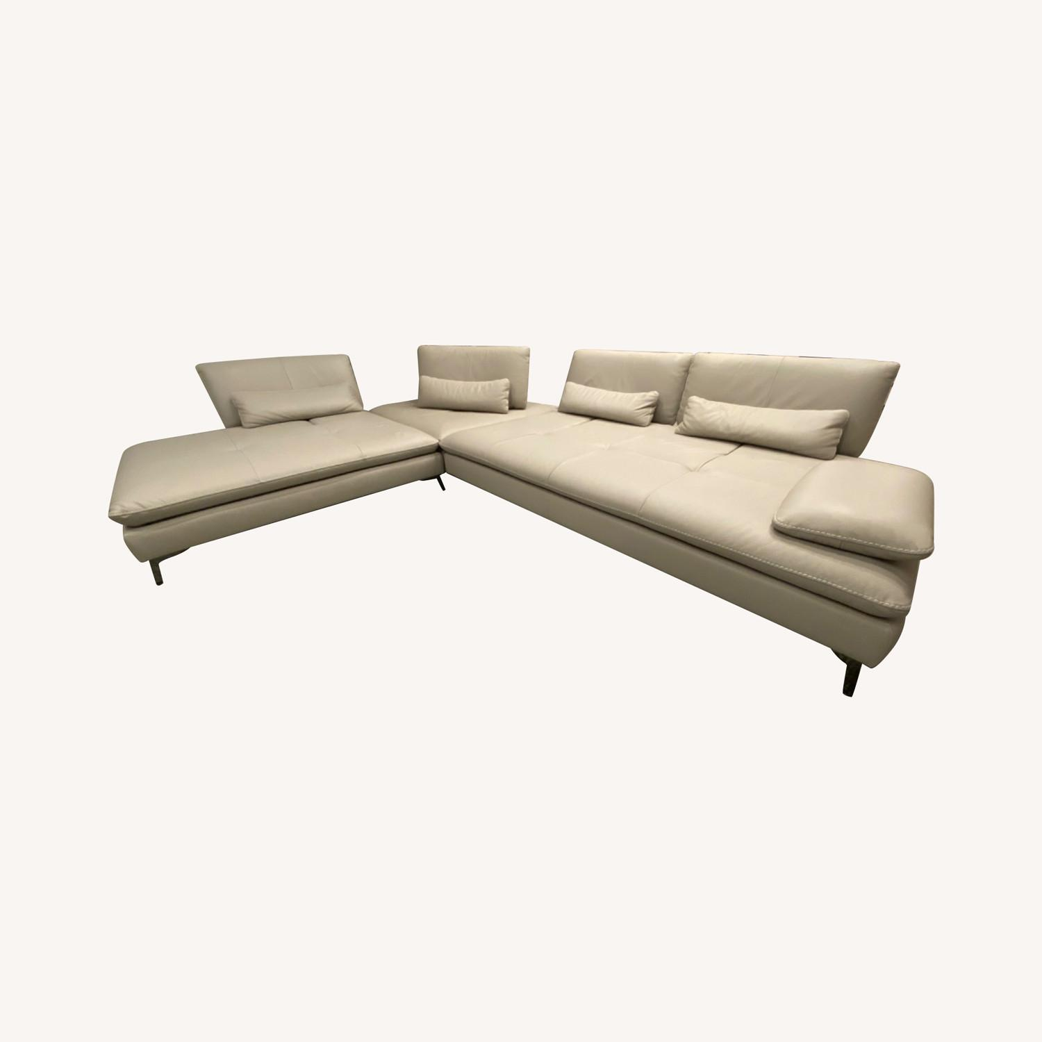 Roche Bobois Leather Sectional - image-0