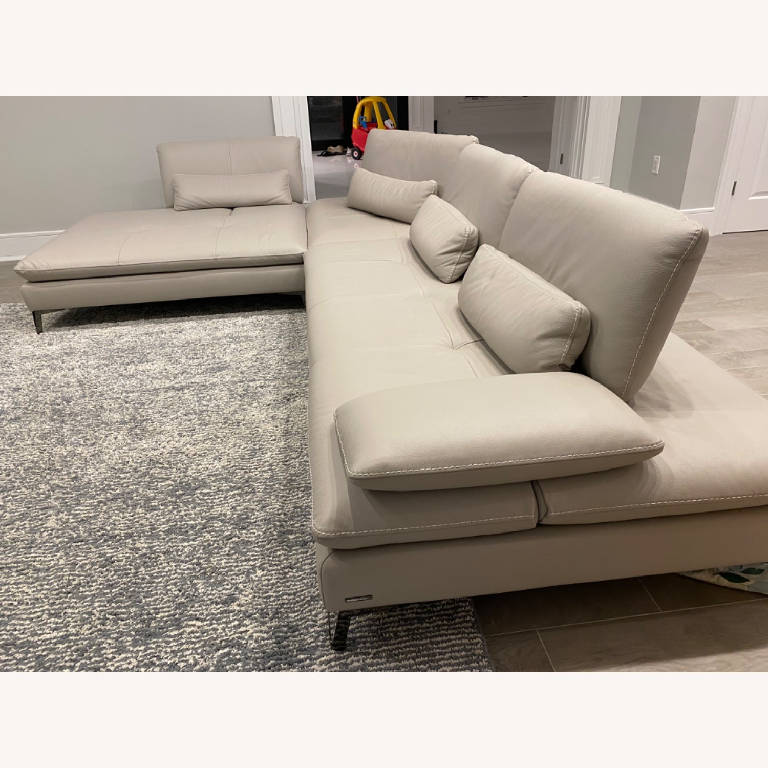 Roche Bobois Leather Sectional - image-5