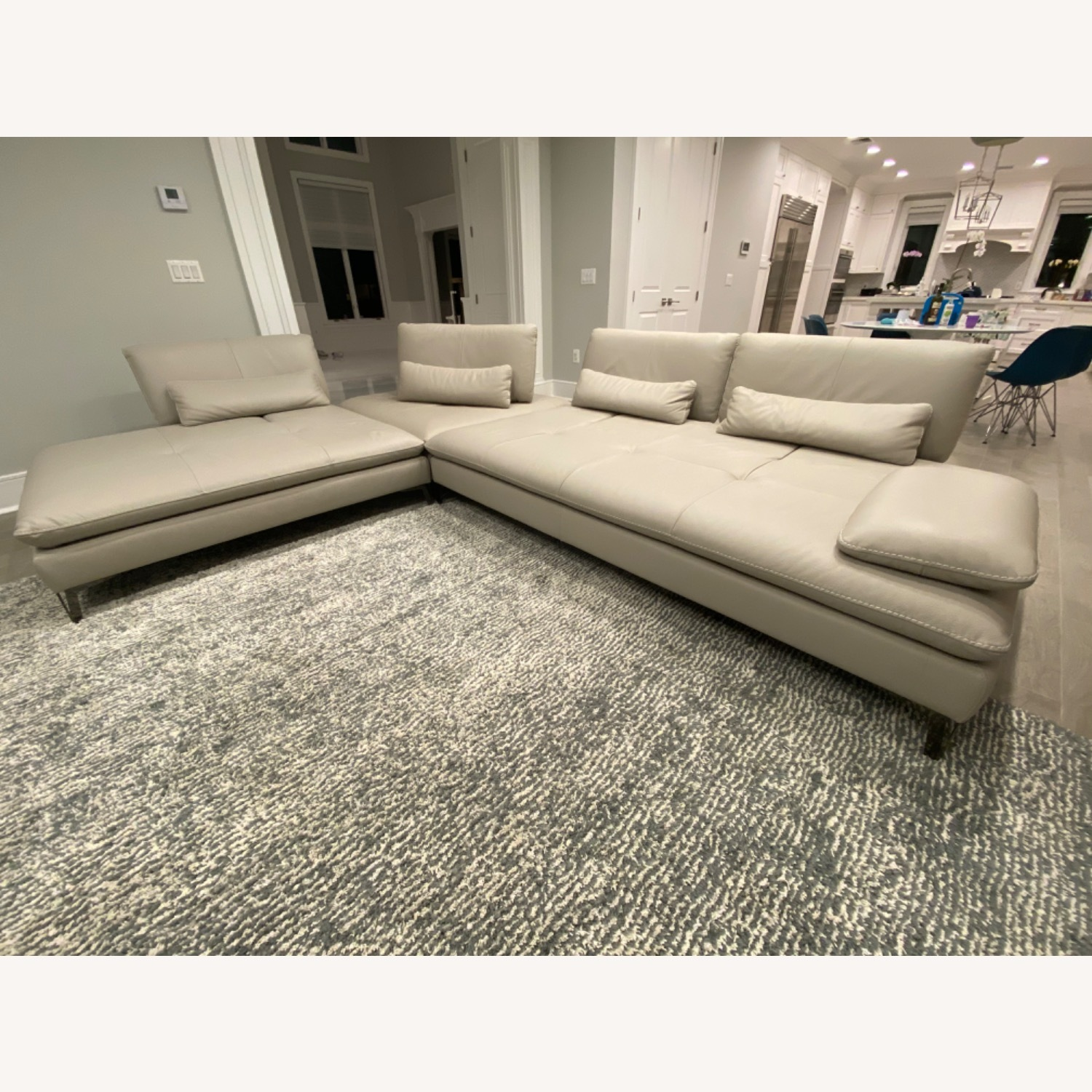 Roche Bobois Leather Sectional - image-3