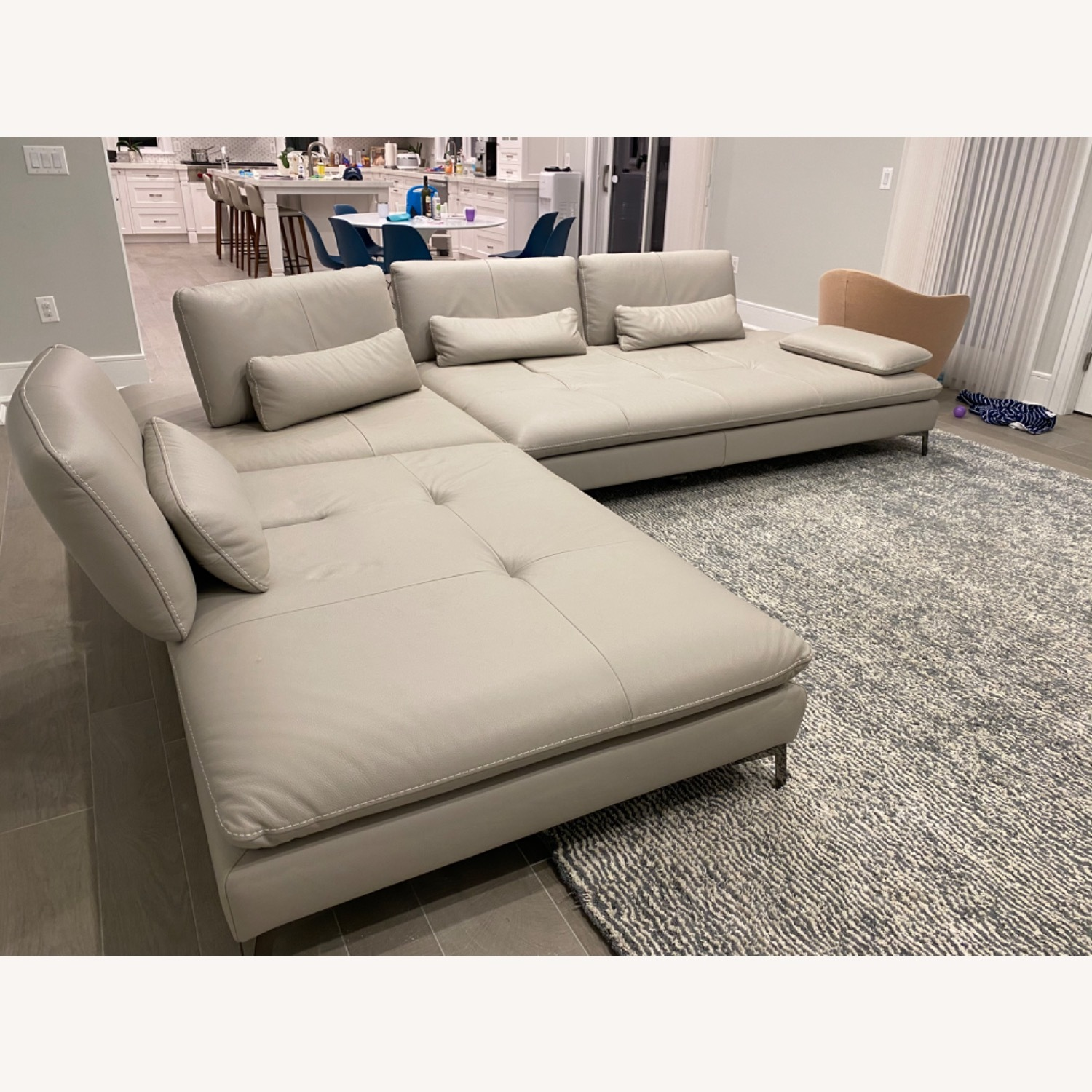 Roche Bobois Leather Sectional - image-1
