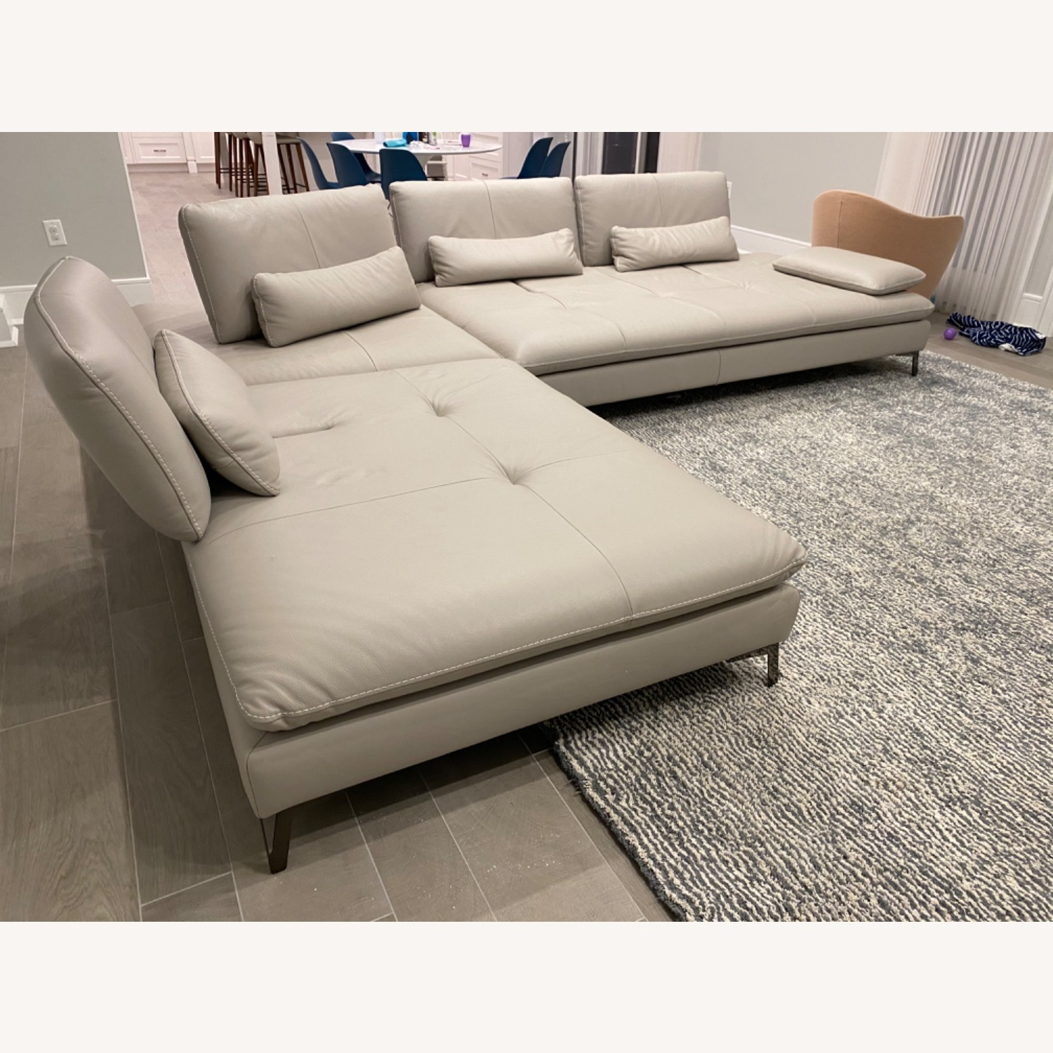 Roche Bobois Leather Sectional - image-2