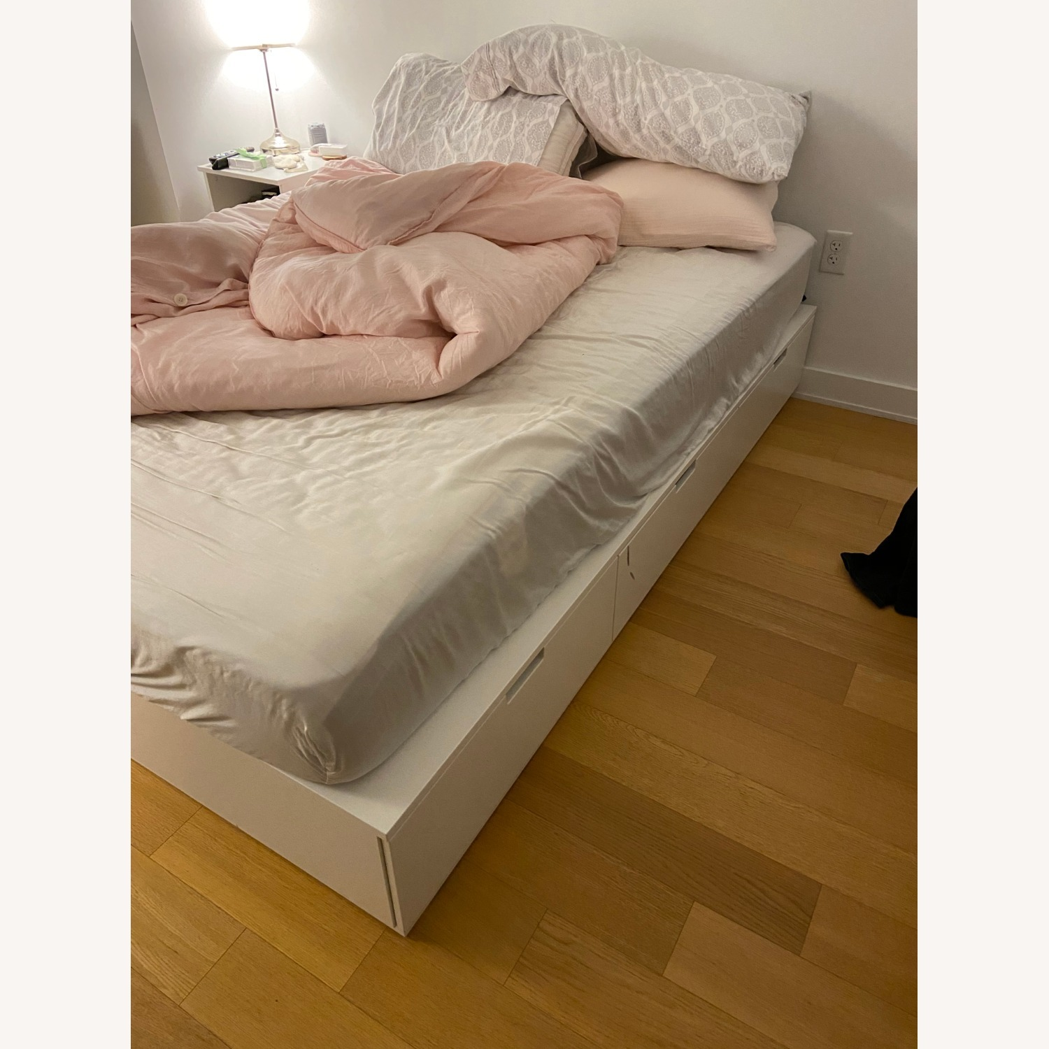 IKEA Queen Bedframe with 6 Drawers - image-2