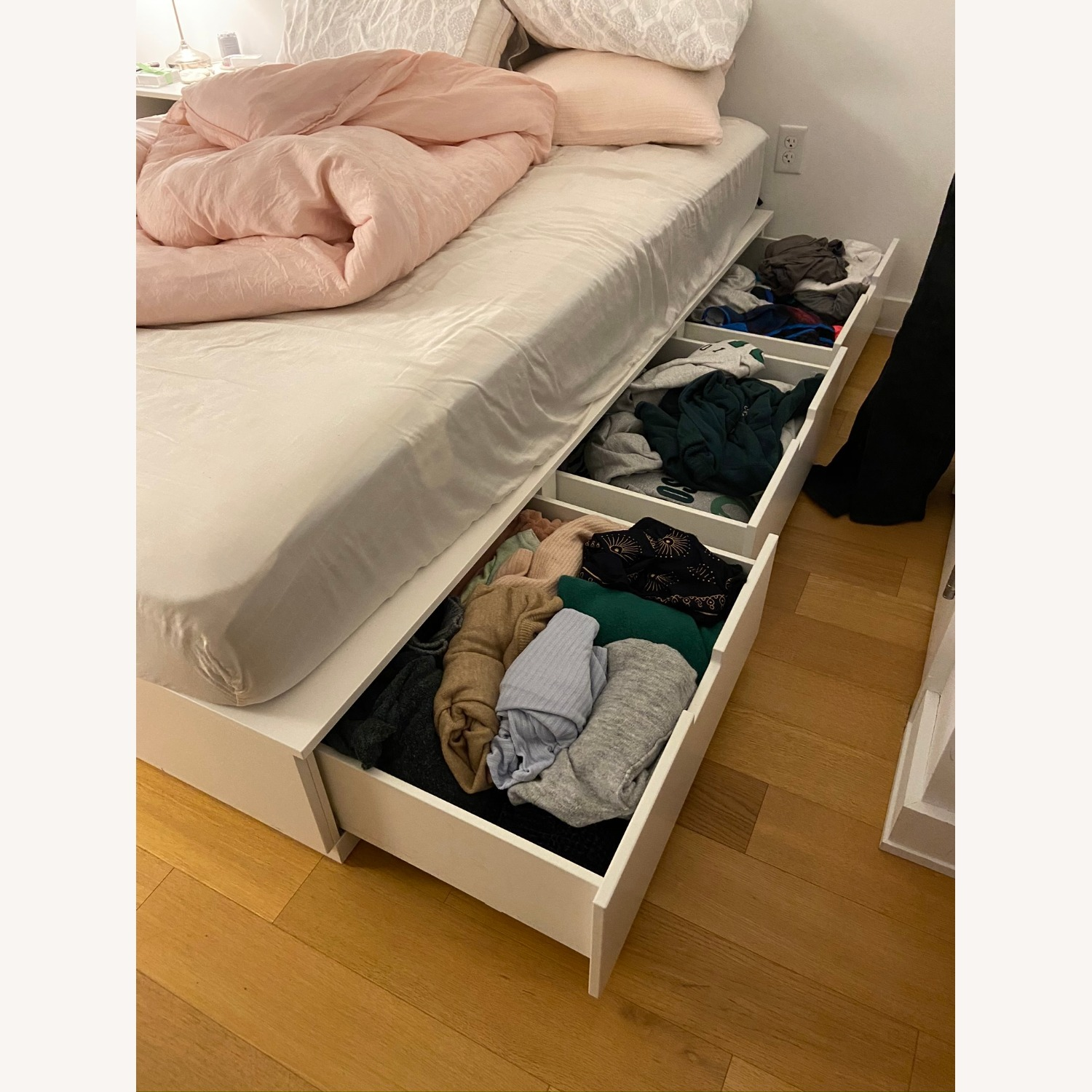 IKEA Queen Bedframe with 6 Drawers - image-1