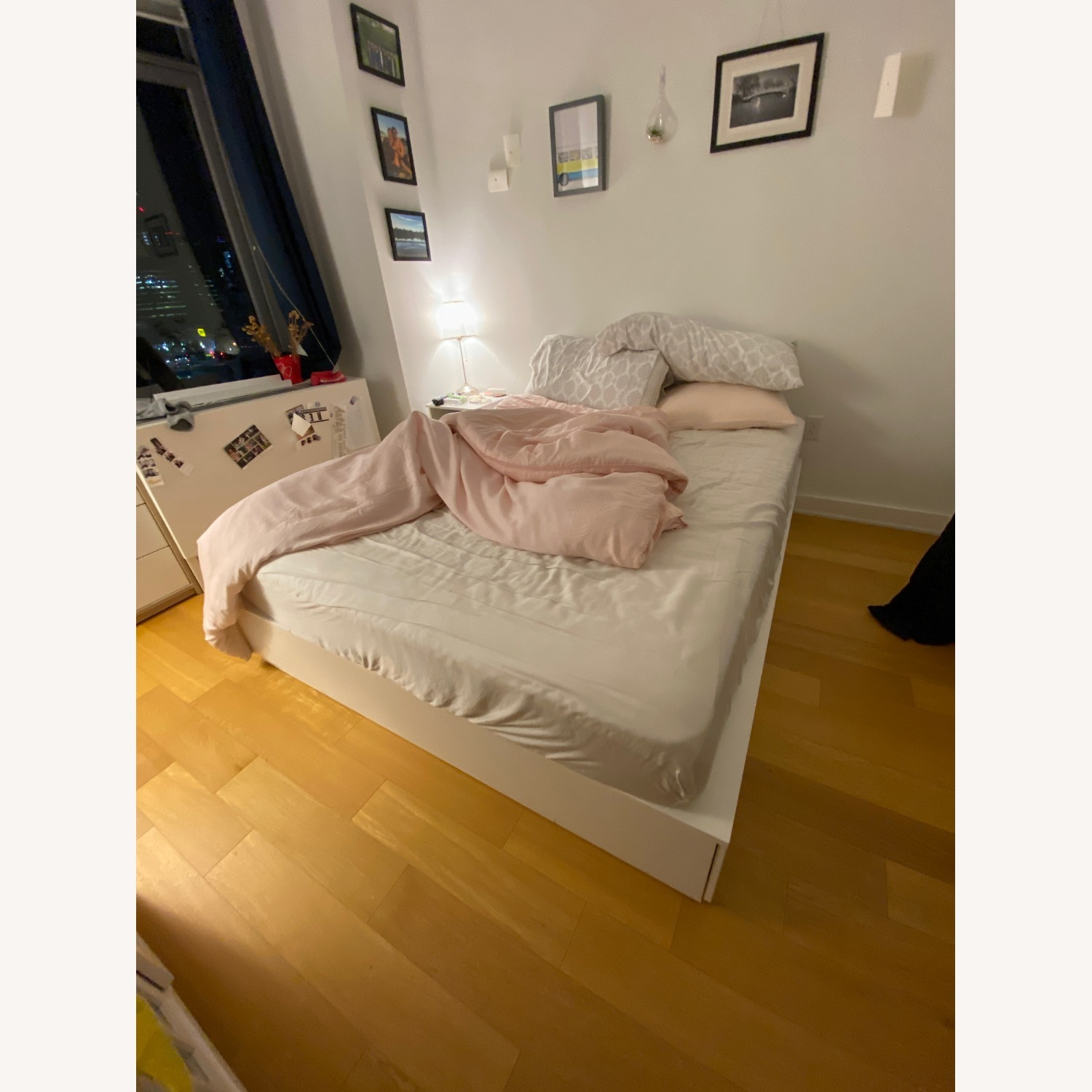 IKEA Queen Bedframe with 6 Drawers - image-3