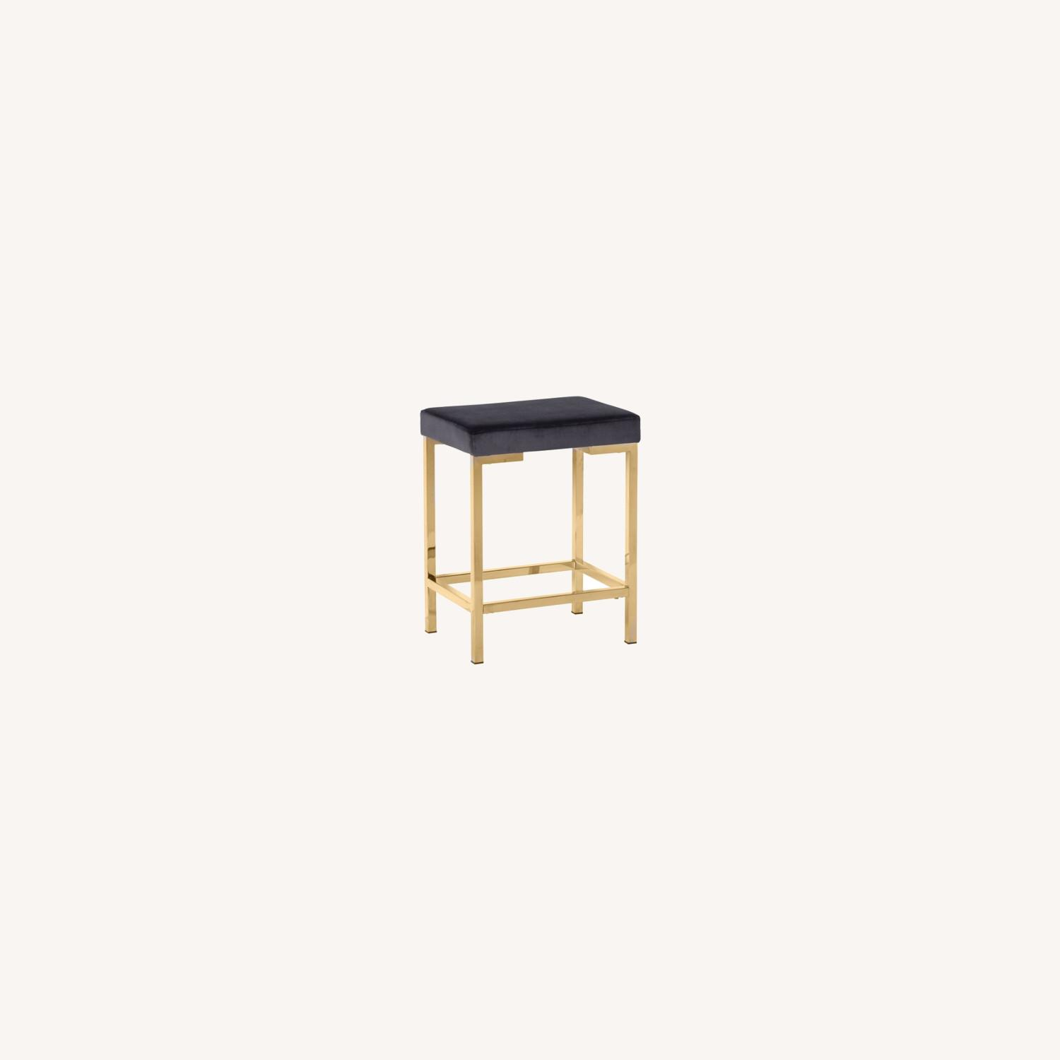Minimalist Counter Height Stool In Charcoal Grey - image-3