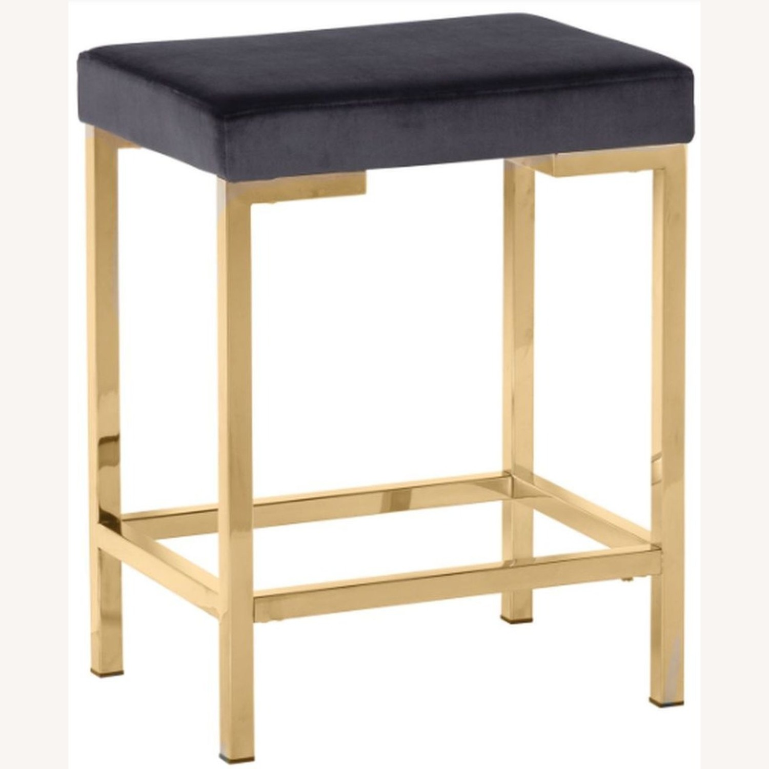 Minimalist Counter Height Stool In Charcoal Grey - image-0