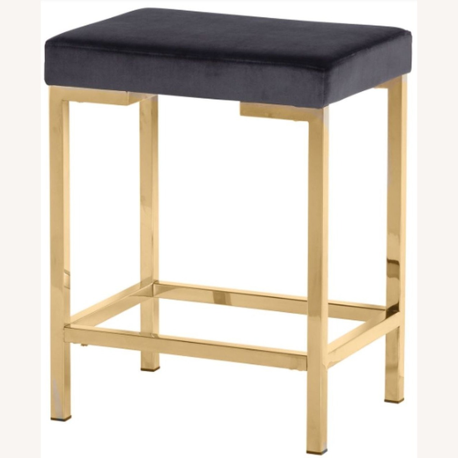 Minimalist Counter Height Stool In Charcoal Grey - image-1