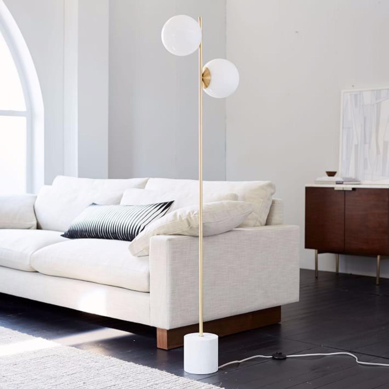 West Elm Sphere & Stem 2-Light Floor Lamp - image-2