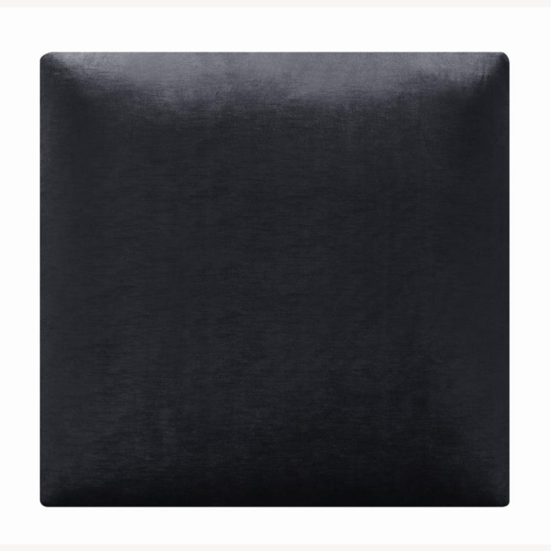 Reversible Ottoman In Charcoal Velvet - image-2