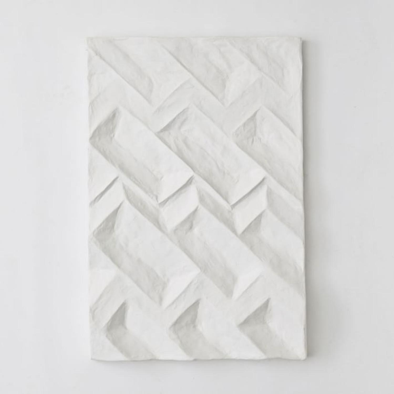 West Elm Paper Mache Geo Panel Wall Art, Panel II - image-3