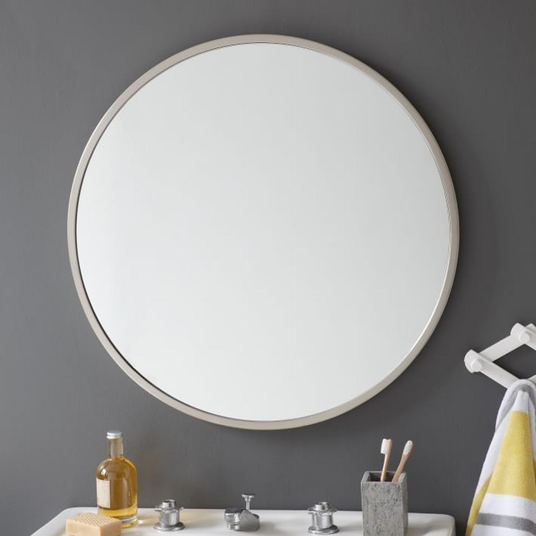 West Elm Metal Framed Mirror - image-1