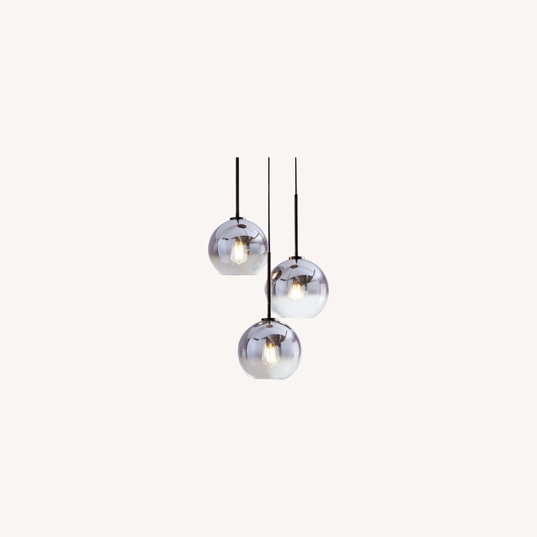 West Elm Sculptural Glass 3-Light Globe Chandelier - image-0