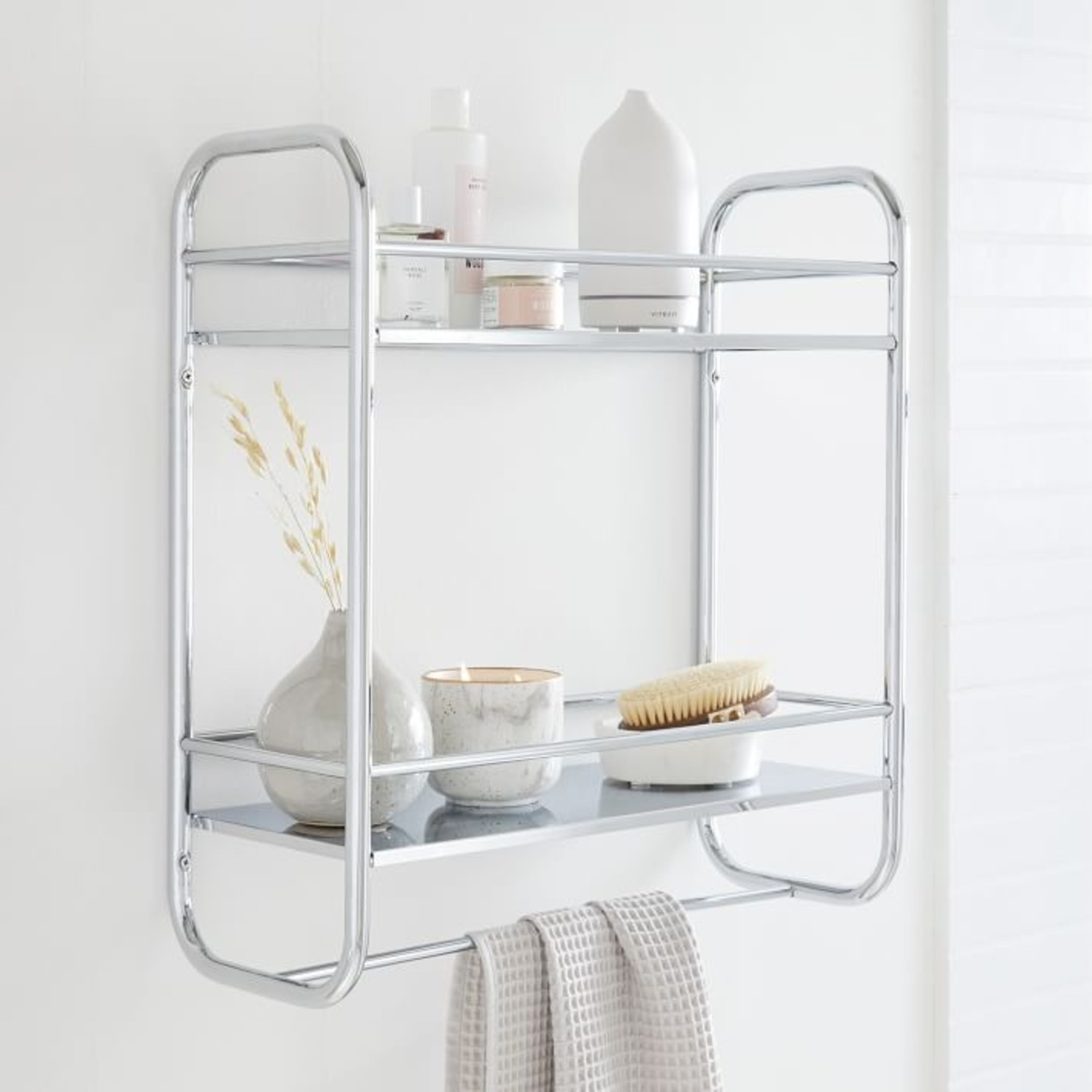 West Elm Deco Curve Metal Wall Shelf - image-3