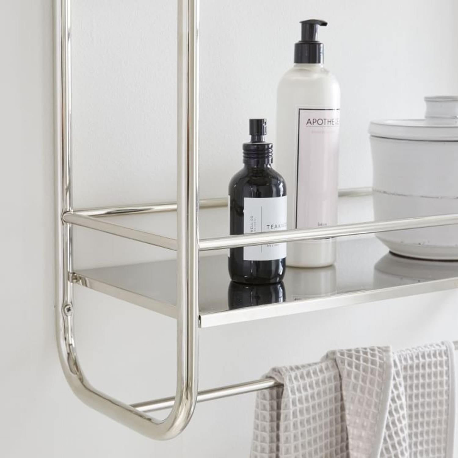 West Elm Deco Curve Metal Wall Shelf - image-1