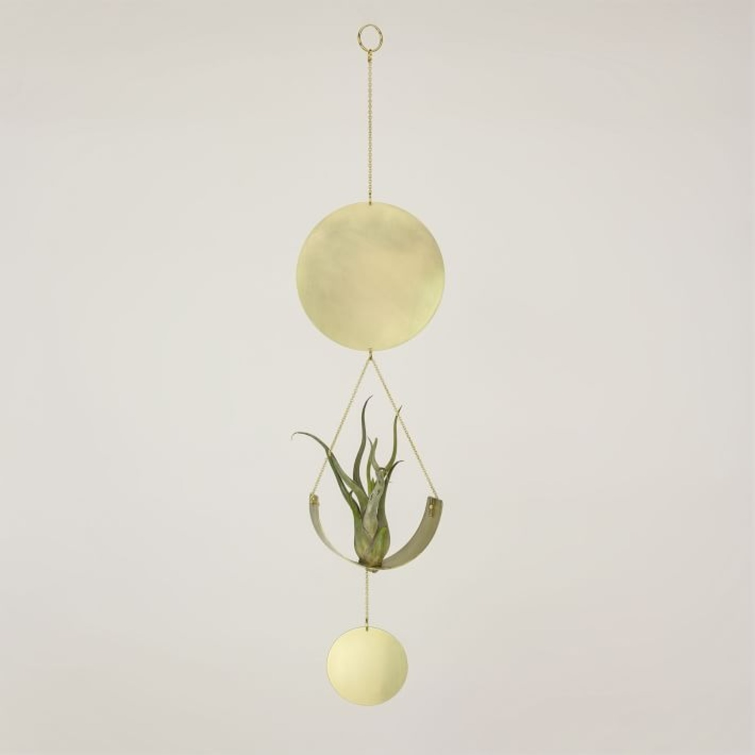 West Elm Airplant Wall Hanging, Brass - image-1