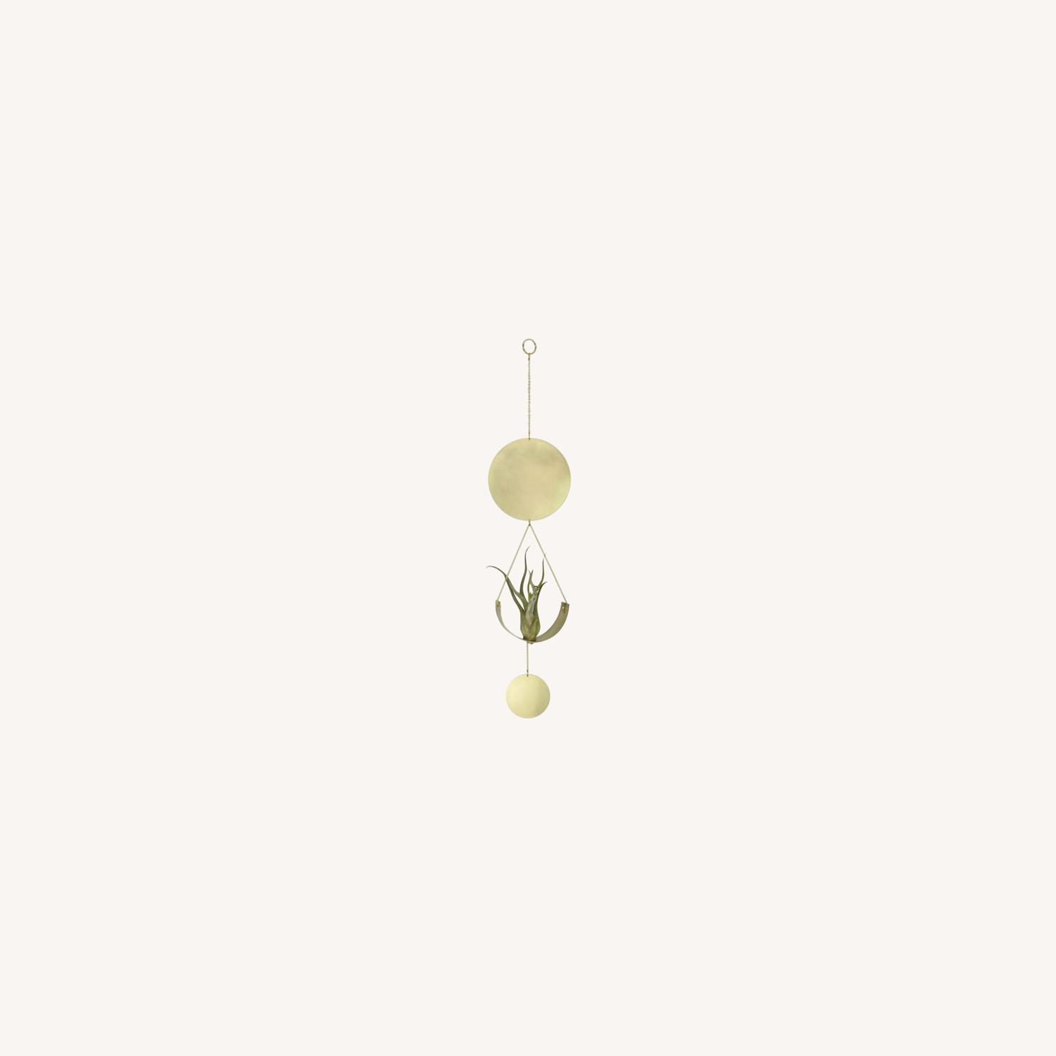 West Elm Airplant Wall Hanging, Brass - image-0