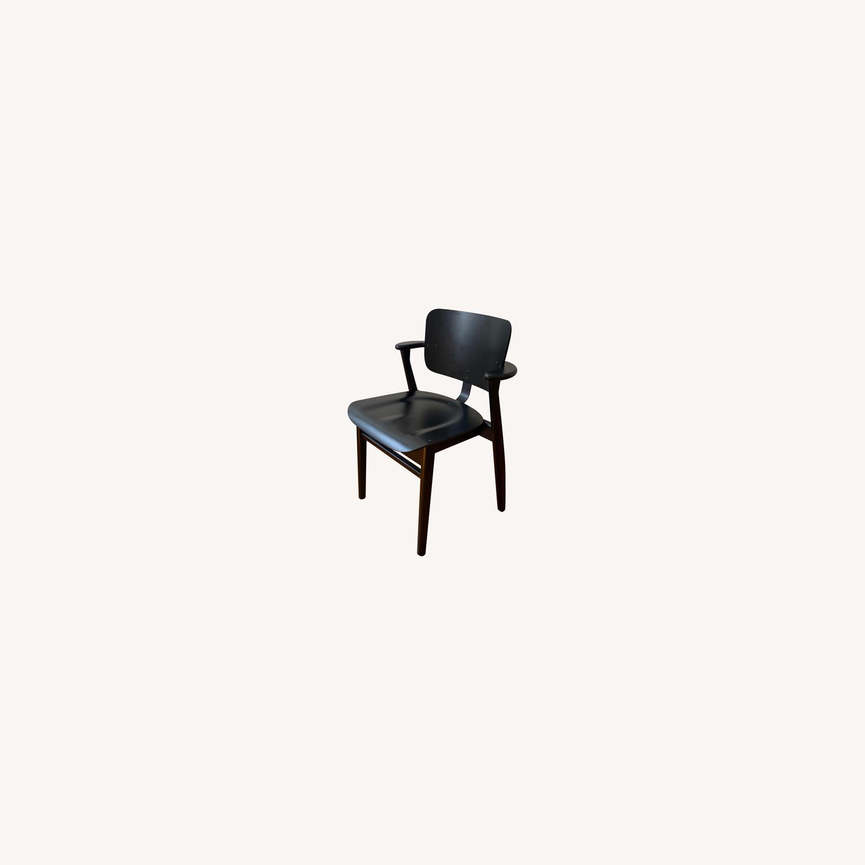 Authentic Artek Domus Chairs in Black Birch - image-0