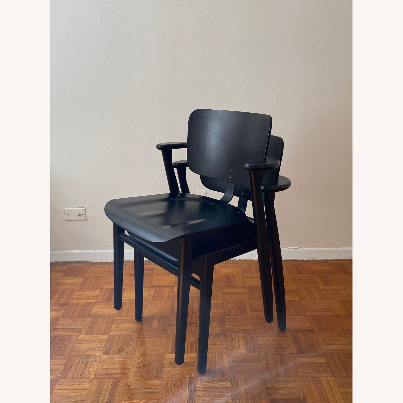 Authentic Artek Domus Chairs in Black Birch - image-1