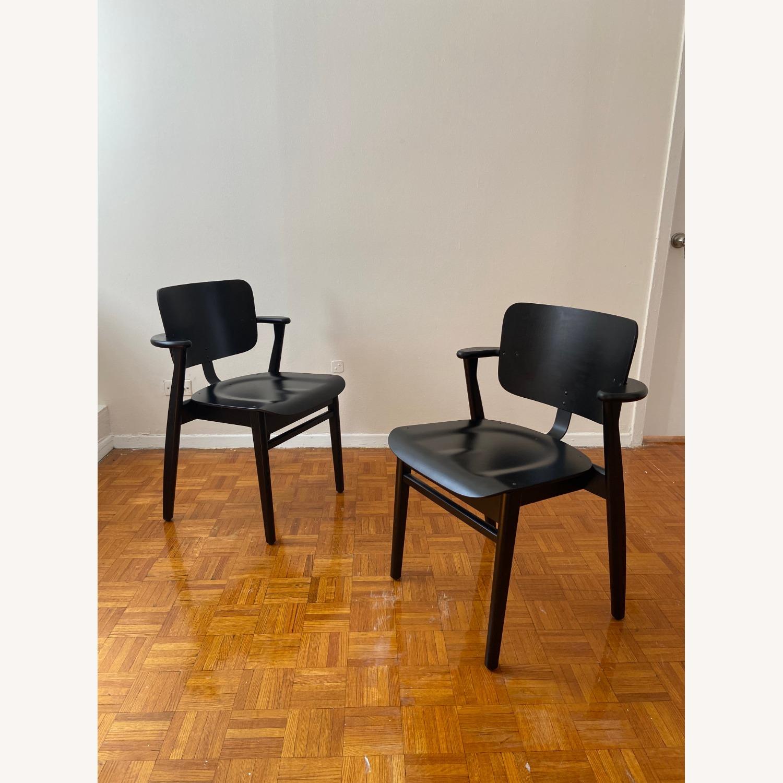 Authentic Artek Domus Chairs in Black Birch - image-7
