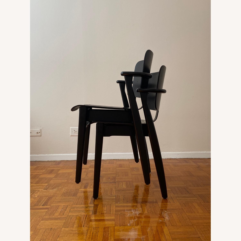 Authentic Artek Domus Chairs in Black Birch - image-4