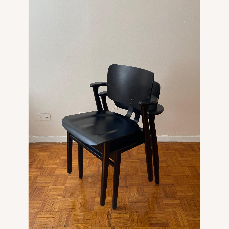 Authentic Artek Domus Chairs in Black Birch - image-5