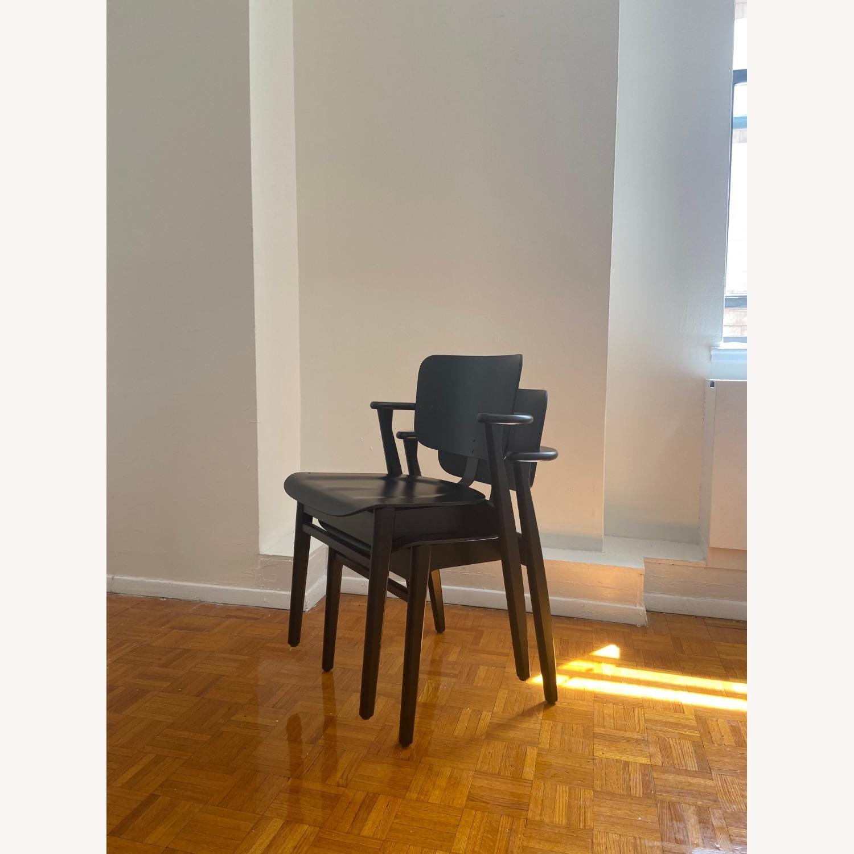 Authentic Artek Domus Chairs in Black Birch - image-3