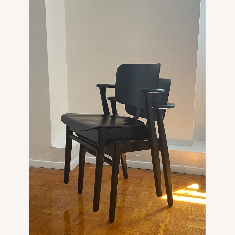 Authentic Artek Domus Chairs in Black Birch - image-6