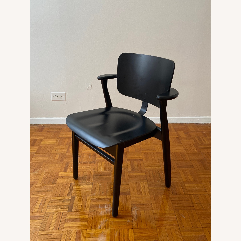Authentic Artek Domus Chairs in Black Birch - image-2
