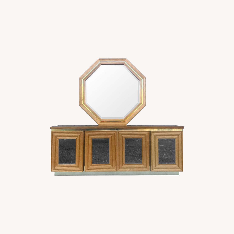 Boho Modern Bamboo Dresser With Mirror Aptdeco