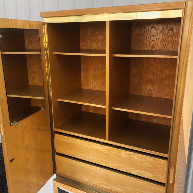 Vintage Modern Boho Armoire Dresser - image-4