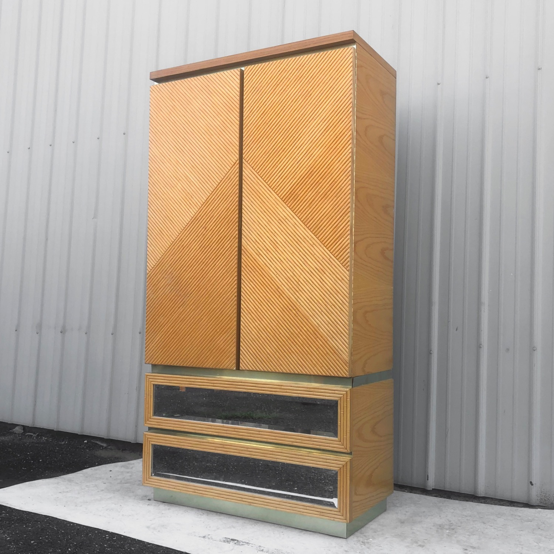 Vintage Modern Boho Armoire Dresser - image-1