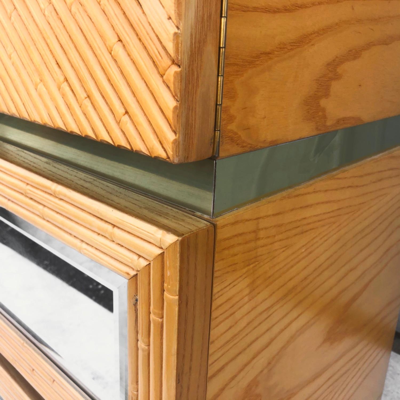 Vintage Modern Boho Armoire Dresser - image-9
