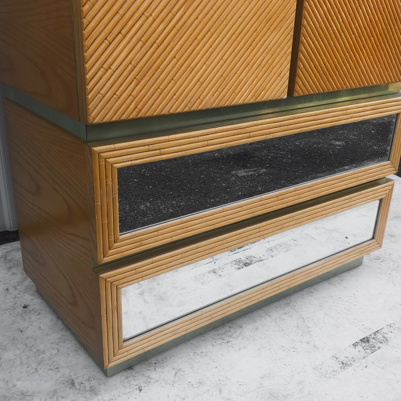 Vintage Modern Boho Armoire Dresser - image-6
