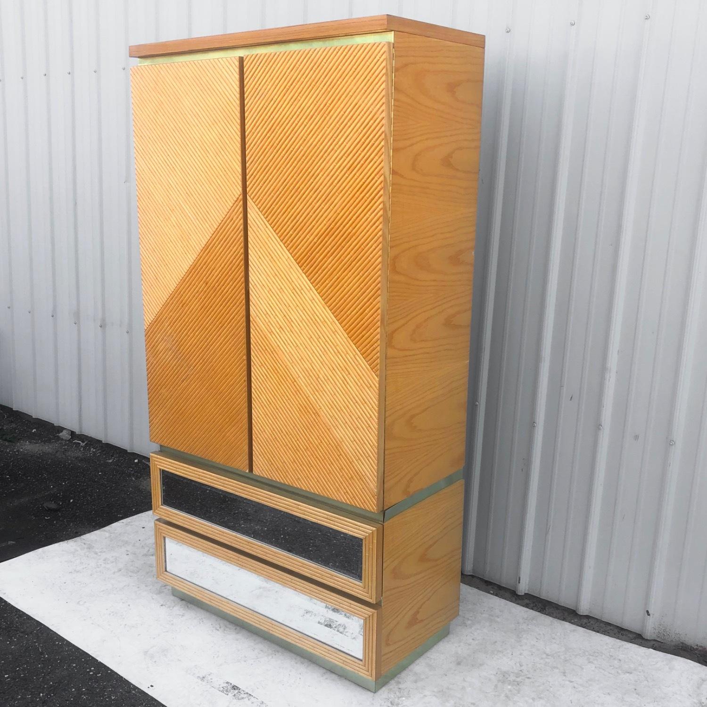 Vintage Modern Boho Armoire Dresser - image-16