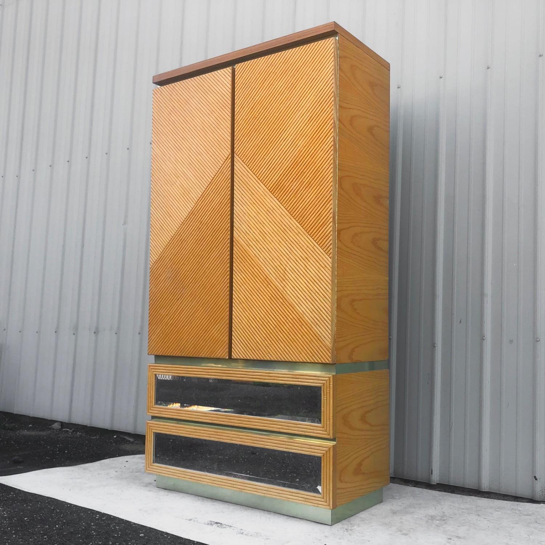Vintage Modern Boho Armoire Dresser - image-2