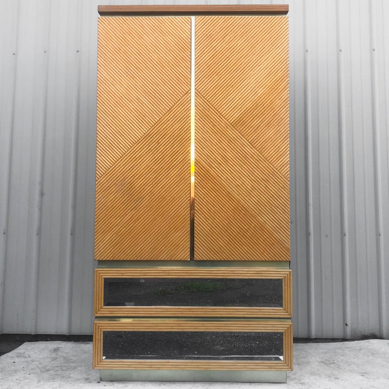 Vintage Modern Boho Armoire Dresser - image-0