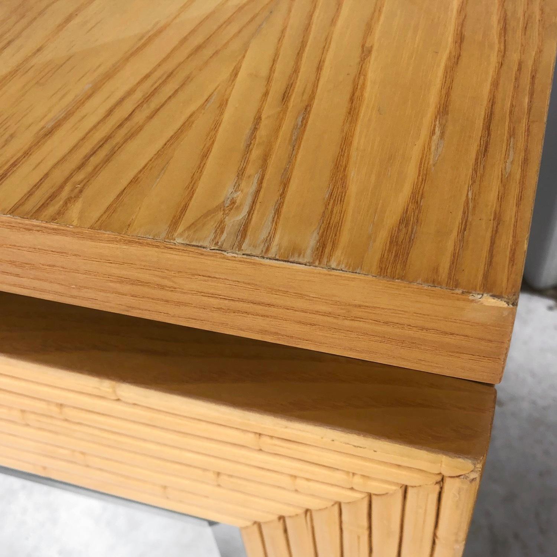Pair Vintage Modern Bamboo Nightstands - image-5