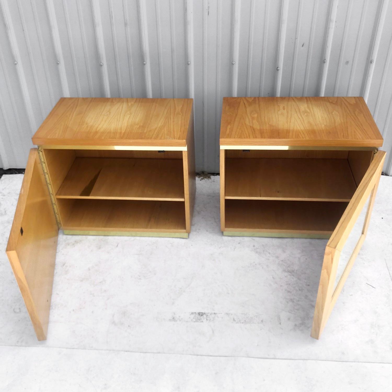 Pair Vintage Modern Bamboo Nightstands - image-12