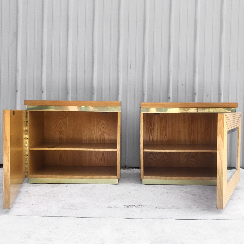 Pair Vintage Modern Bamboo Nightstands - image-11
