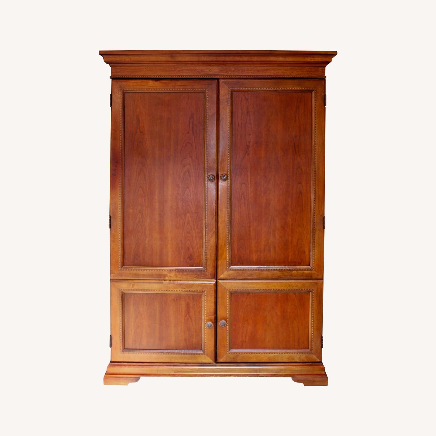 Armoire / Home Office - Solid Maple Cherry Finish - image-0