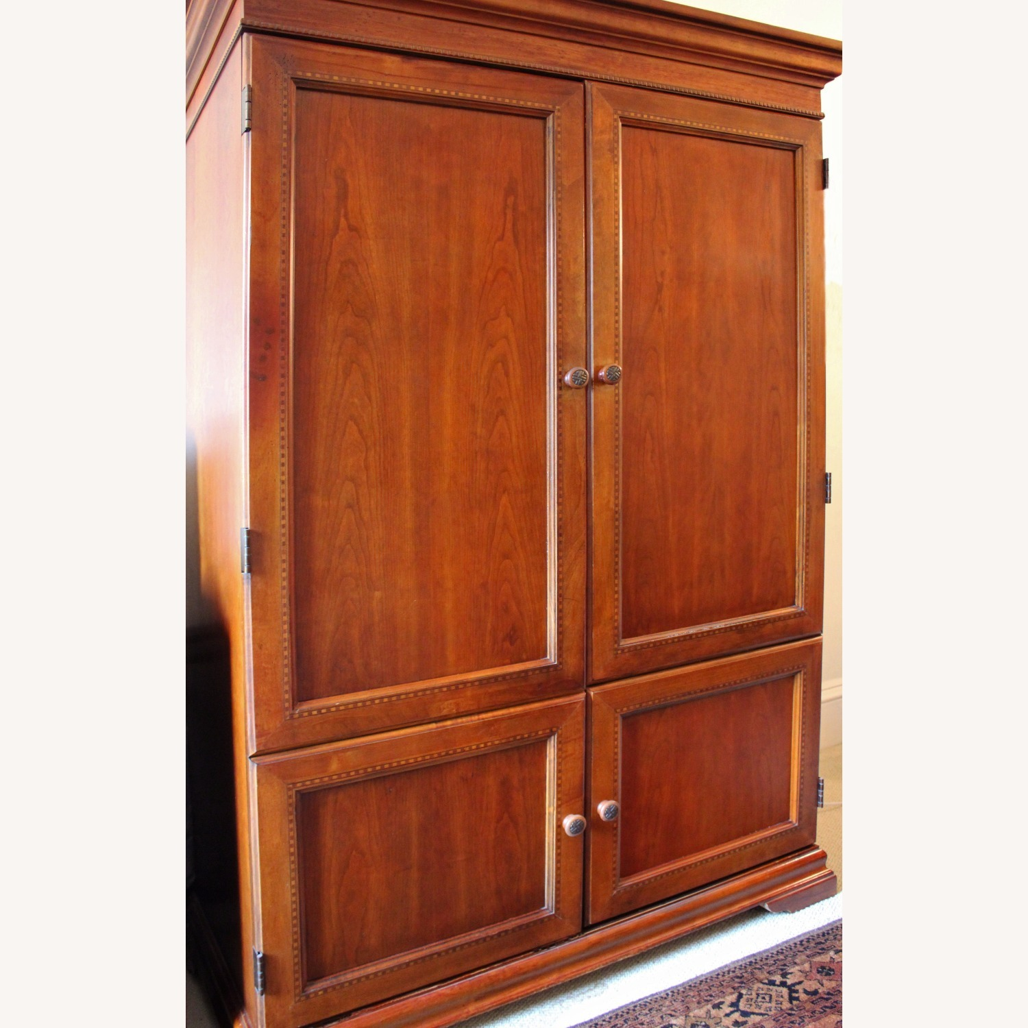 Armoire / Home Office - Solid Maple Cherry Finish - image-5