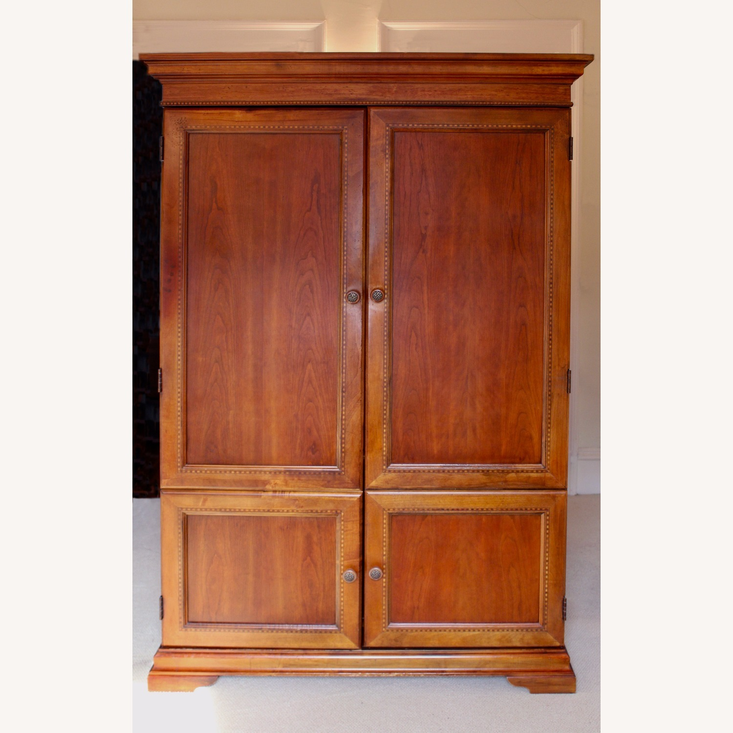 Armoire / Home Office - Solid Maple Cherry Finish - image-1