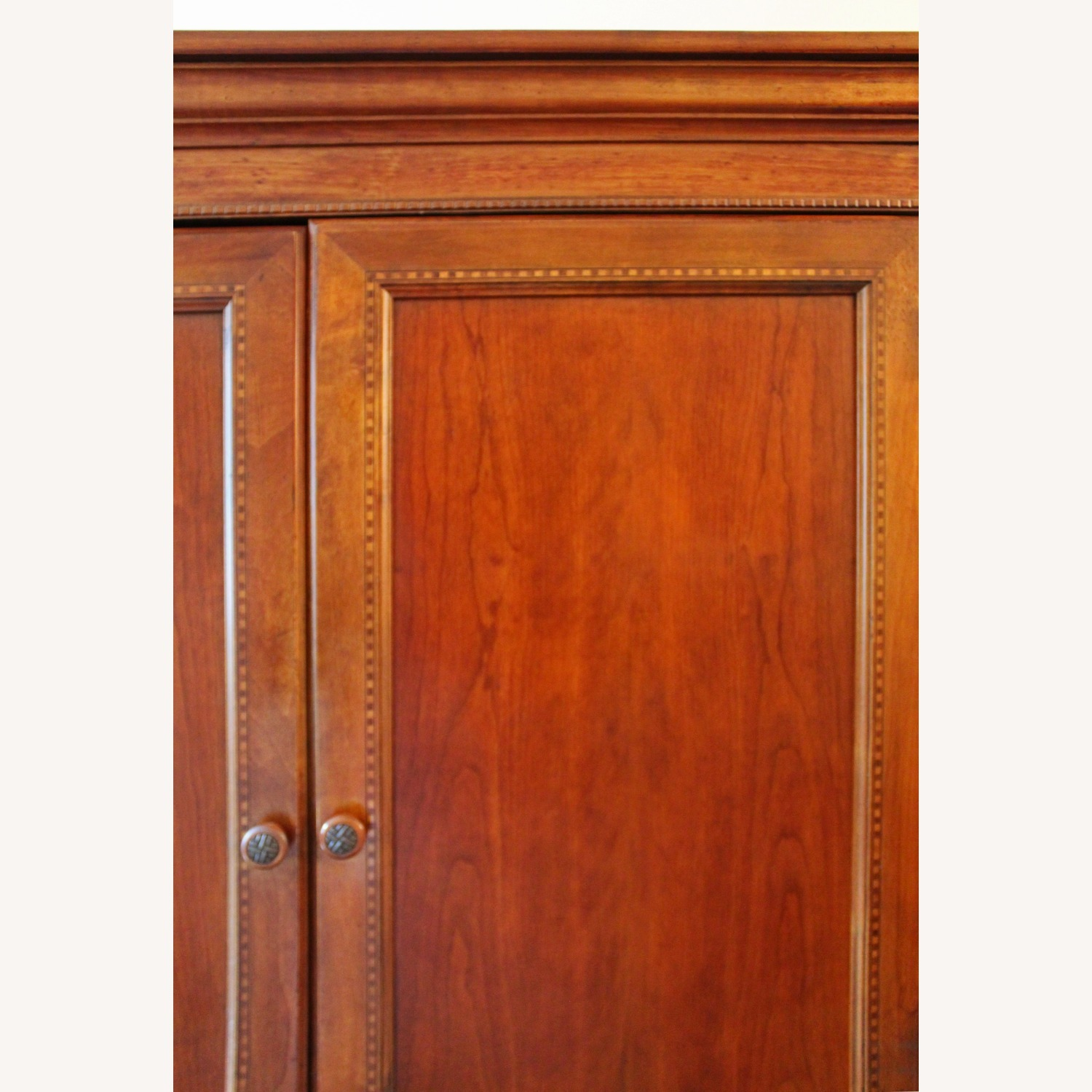 Armoire / Home Office - Solid Maple Cherry Finish - image-4