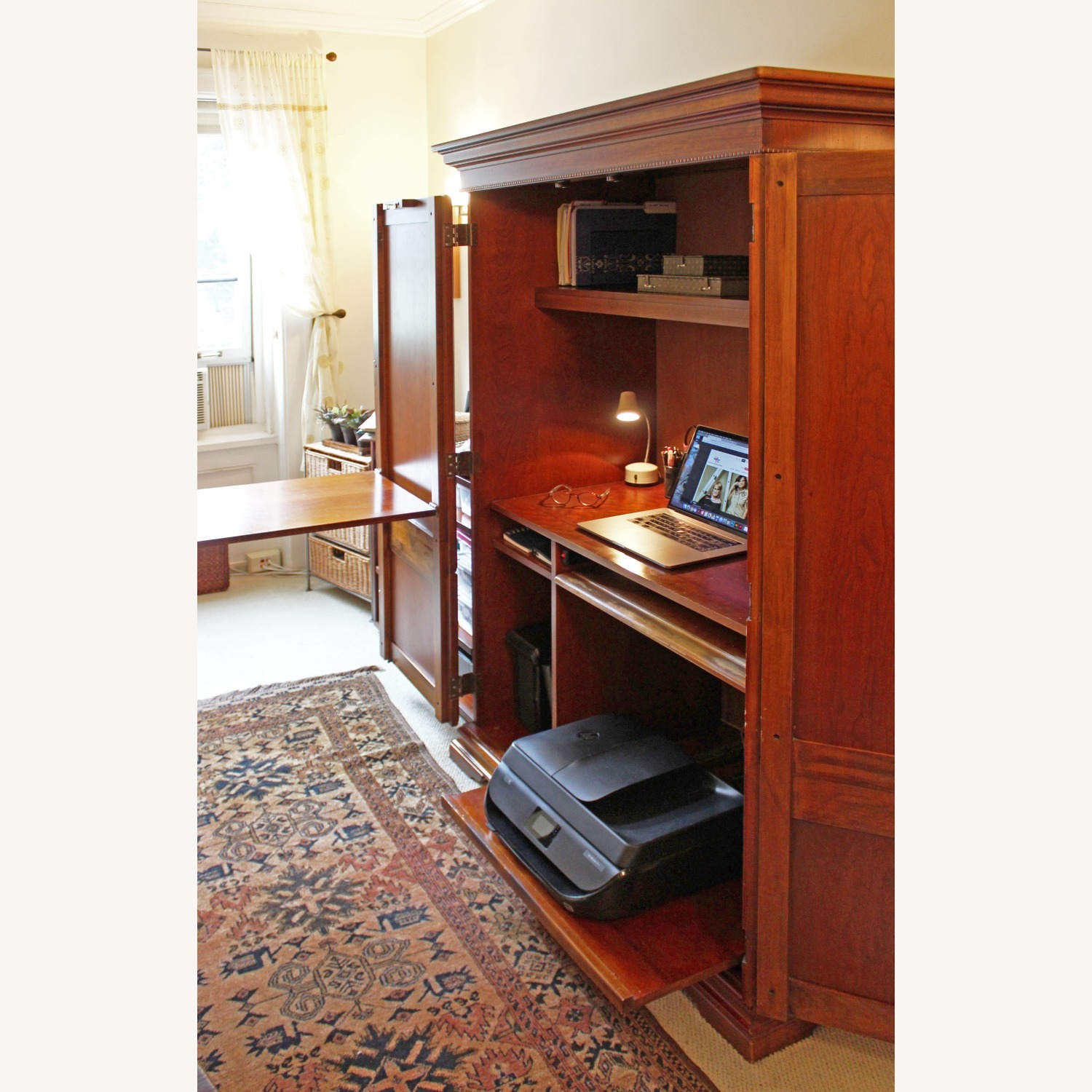 Armoire / Home Office - Solid Maple Cherry Finish - image-2