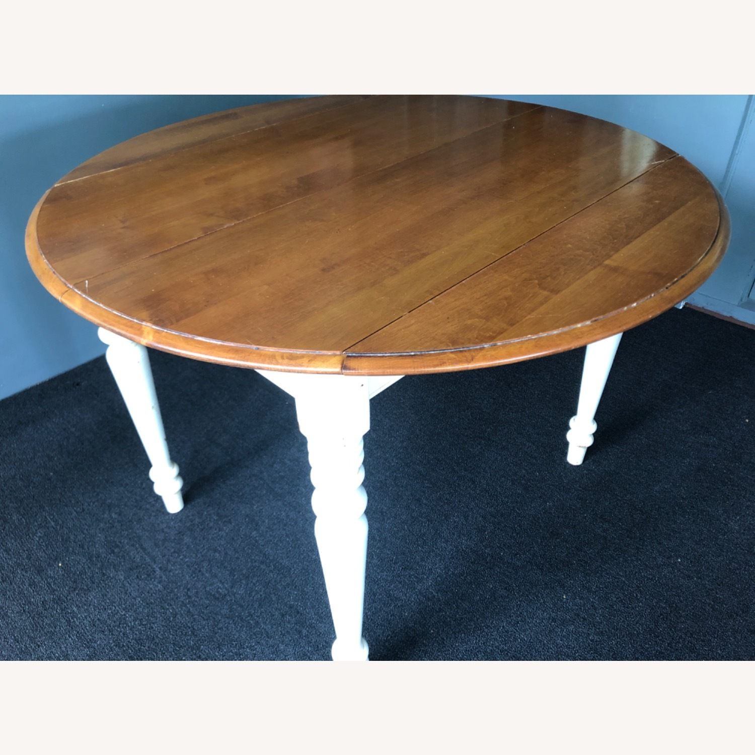 Ethan Allen Kitchen Table Round French Country - image-2