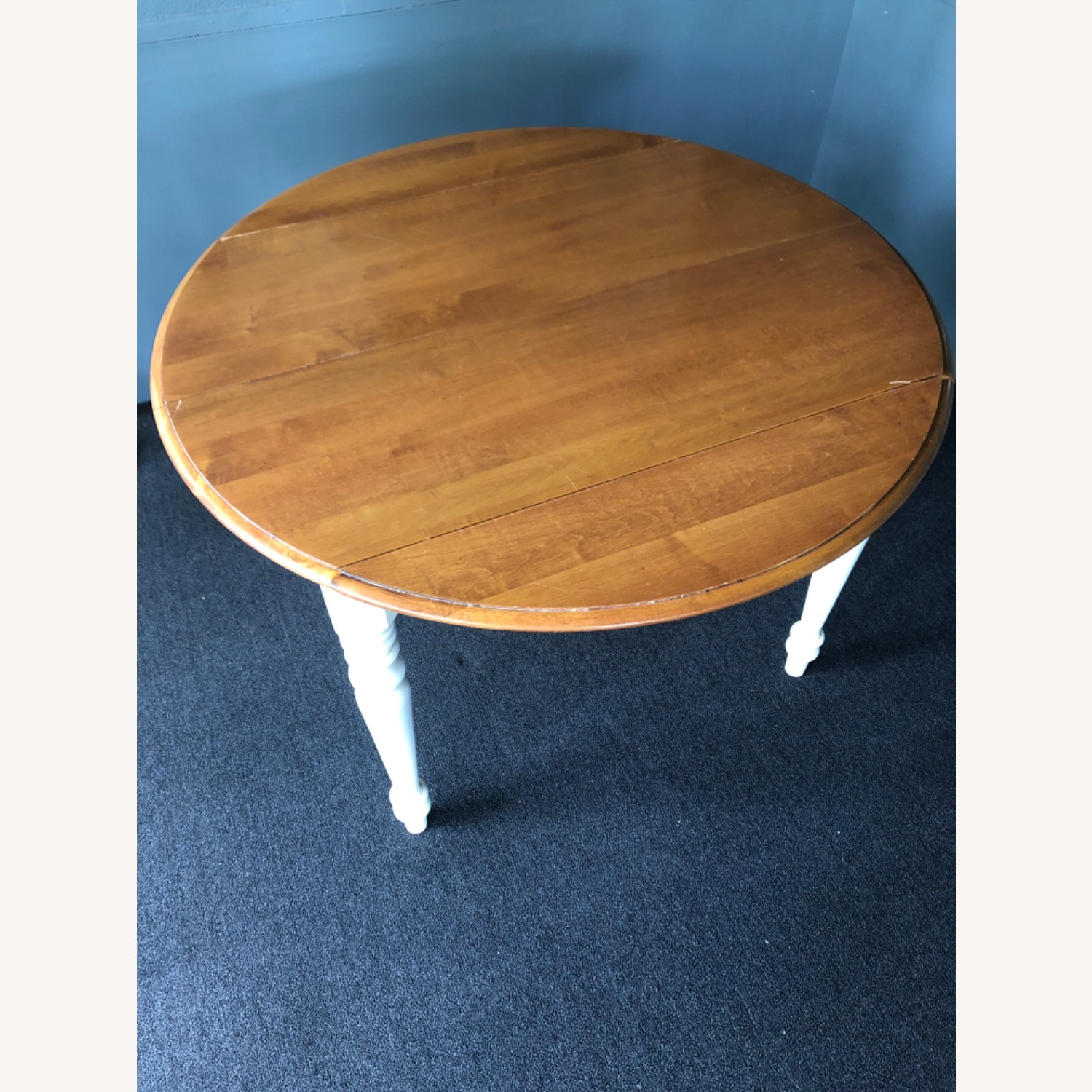 Ethan Allen Kitchen Table Round French Country - image-1
